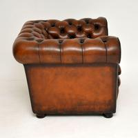 Antique Victorian Style Leather Chesterfield Armchair (5 of 8)