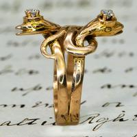 The Antique Late Victorian Diamond Crowned Snake Ring (2 of 5)