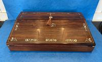 William IV Rosewood Lap Desk with Mother of Pearl Inlay (2 of 12)