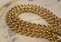 Antique Pocket Watch Chain 1890 Victorian 12ct Rose Gold Filled Albert With T Bar (6 of 12)