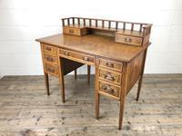 Edwardian Antique Oak Kneehole Desk (11 of 13)