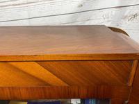 Art Deco Walnut Curved Bookcase Display Storage Cabinet (17 of 29)