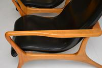 Pair of Vintage Leather Armchairs in the Manner of Vladimir Kagan (15 of 15)