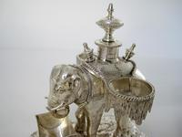 Over Size Victorian Silver Plated Elephant Cruet Set (7 of 8)