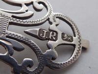 Large Victorian 1899 Hallmarked Solid Silver Nurses Belt Buckle Joseph Rogers (5 of 9)