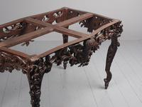 Victorian French Carved Fruitwood & Marble Top Console Table (9 of 19)