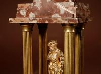 Grand Tour Style Very Decorative French Gilded Brass & Marble Clock Garniture (14 of 14)