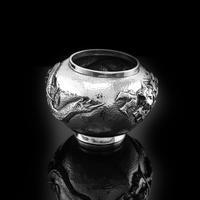 Antique Solid Silver Japanese Condiment Pot / Bowl - Meiji c.1900 (5 of 14)