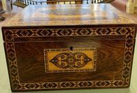 Pretty 19th Century Tunbridge Ware Tea Caddy (4 of 5)