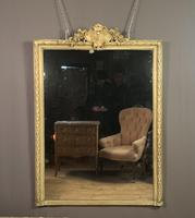 Large painted French chateau style mirror (3 of 8)