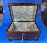 William IV Rosewood Jewellery Box with Inlays (8 of 12)