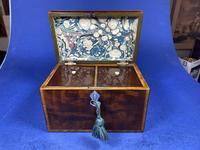 18th Century Mahogany Twin Tea Caddy with Shell Inlay (5 of 17)