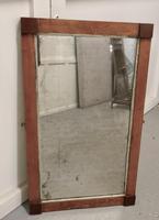 Art Deco Birds Eye Maple & Mahogany Framed Mirror (5 of 5)