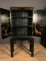 Decorative Chinoiseries Lacquer Work Cabinet on Stand (10 of 12)