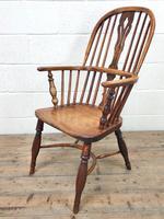 Antique Windsor Armchair in Elm & Ash (6 of 12)