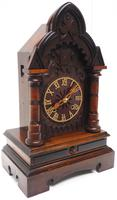 Rare Junghans Cuckoo Mantel Clock – German Black Forest Mantle Clock (6 of 12)