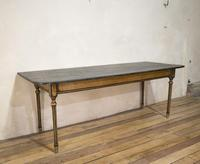 18th Century Faux Quilted Maple Painted Swedish Table (7 of 16)