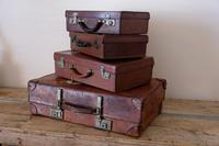 Large Vintage Brown Leather Suitcase (14 of 15)