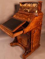 "Superb Victorian Burr Walnut ""Jack in a Box"" Davenport (12 of 16)"