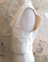 Antique Victorian Ivory Colour Silk Waistcoat (5 of 12)