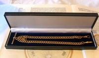 Victorian Pocket Watch Chain 1890s Large 10ct Rose Gold Filled Double Albert & T Bar (11 of 11)