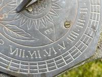 "Roman Style Stone Garden Bronze Floral Sundial ""Sunny Hour"" (13 of 30)"