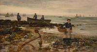 "Oil painting by Arthur Wellesley Cottrell ""Low Tide, Mumbles, South Wales"" (2 of 4)"