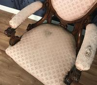 Victorian Burr Walnut & Inlaid Salon Suite (32 of 38)