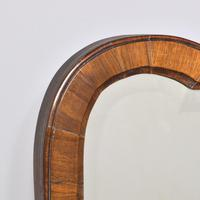 Queen Anne Style Walnut Wall Mirror c.1900 (3 of 6)