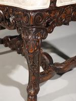 Remarkable Pair of Late 19th Century Walnut Throne Chairs (8 of 10)