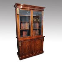 William IV Rosewood Cupboard Bookcase (2 of 9)