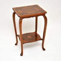 Pair of Matched Burr Walnut Edwardian Side Tables (8 of 10)
