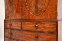 Antique George III Bow Fronted Linen Press (10 of 11)
