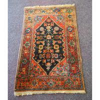 Small Vintage Persian Hamadan Rug (2 of 5)