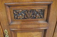 1910's Good Large Carved Oak Sideboard with Mirror Back (6 of 7)