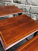 Edwardian  Inlaid Mahogany Nest 4 Tables (12 of 12)