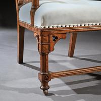 19th Century Oak Gothic Armchair By G Tilley Of Birmingham (10 of 10)