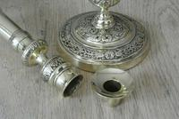 Fine Pair of Early 19th Century French Brass Candlesticks with Seamed Stems (3 of 8)