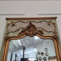 Large Antique French Trumeau Mirror c.1890 (3 of 6)