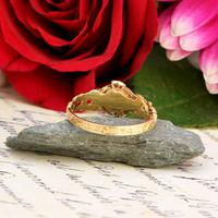 The Antique Victorian 1862 Pearl & Rose Cut Ornate Diamond Ring (6 of 8)