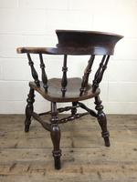 19th Century Ash and Elm Smoker's Bow Chair (M-1704) (8 of 15)