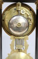 French Ebonised and Inlaid Portico Mantel Clock (10 of 10)