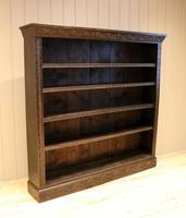 Large Victorian Open Dark Oak Bookcase (8 of 10)