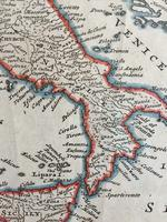 Original Map of Italy by Herman Moll Circa 1720, later framed (5 of 6)