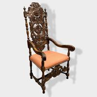 17th Century High Back Armchair (3 of 14)
