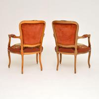 Pair of Antique French Tapestry Salon Armchairs (3 of 10)