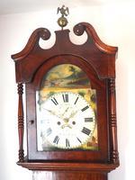 Antique Longcase Clock Fine English Oak Striking Grandfather Clock Painted Dial (5 of 10)