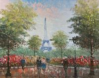 Lovely Pair of Original 20th Century French Parisian Gouache Cityscape Paintings (11 of 19)