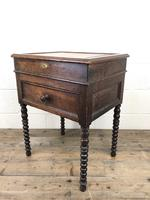 Early 19th Century Oak Box on Stand (10 of 12)