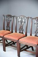 Set of 6 20th Century Mahogany Chippendale Style Dining Chair (5 of 13)